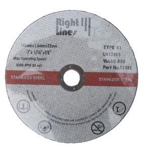 "180mm 7"" ULTRA THIN PREMIUM METAL CUTTING BLADE DISC STAINLESS STEEL - PACKS"