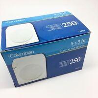 CD / DVD Window Envelopes Paper Sleeves 5x5 White Columbian Box of 220