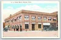 Hibbing Minnesota~VL Power Block~Perfume~Dentist~Eye Doctor~1920s Cars~Postcard