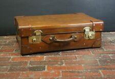 Exquisite Solid Leather Antique English Suitcase