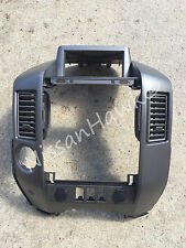 NEW OEM NISSAN 2004-2006 TITAN/ARMADA CENTER DASH / RADIO AC BEZEL - SEE NOTES!!