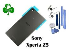 For Sony Xperia Z5 Back/Battery Cover Glass Plate Housing Grey With Tools