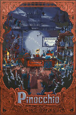 Kilian Eng Pinocchio 19 Color Screen Printed Poster Disney Licensed Varnish