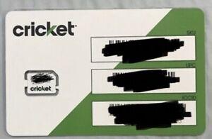 Preloaded CRICKET WIRELESS Sim card With Prepaid plan $60 UNL TALK TEXT &4G LTE