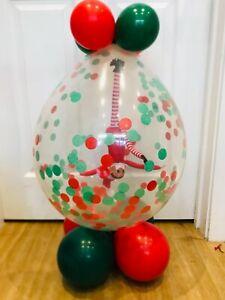 Elf in a balloon stuffed Christmas arrival kit - DIY Kit Stuffing