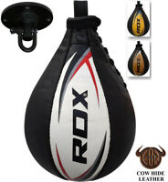 RDX Cow Leather Speed Ball & Swivel Boxing Punch Bag Punching Training MMA CA