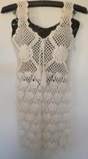 Crochet Dress. Cotton Summer Dress. Bikini Cover-up 8 - 12. Cream.