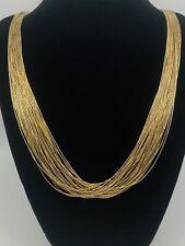 "Vintage NAVAJO Gold Over Liquid Sterling Silver 30 Strand Necklace- 30"""