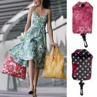 Reusable Portable Foldable Eco Grocery Shopping Bag Storage Tote Handbag