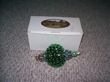 MACKENZIE-CHILDS CHRISTMAS GREEN RUSSIAN JEWEL ORNAMENT POLAND HAND PAINTED