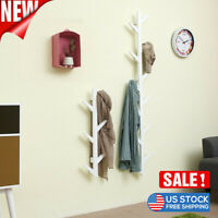 Wall Mounted Tree Hanger Tree Branch Coat Hook Rack Hat Hanging Stand Holder US