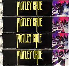 Motley Crue Set Of 4 Vintage 80's Bumper Stickers Theater Theatre Of Pain