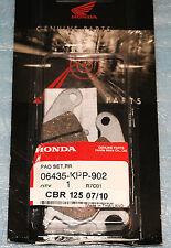 2 plaquettes de frein arrière HONDA CBR 125 R de 2004/2010 06435-KPP-902
