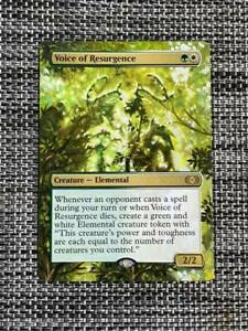 Voice of Resurgence MTG Magic Double Masters Hand Painted Altered Extended Art v