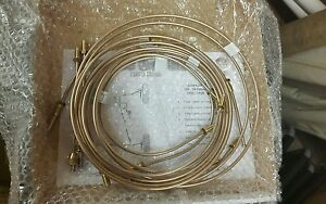 W124 Mercedes Benz Modeks kunifer Brake Pipe Sets With Brass Fittings