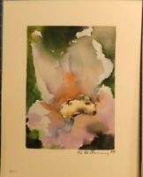 Unbekannter Künstler Aquarell Blütenschoß signiert H9717