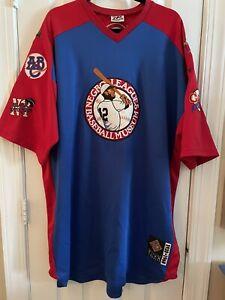 Negro League Baseball Museum NLBM 1920-1960 Jersey W/ Team Patches Size 3XL