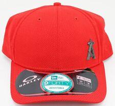 sale retailer d5668 db932 New OAKLEY New Era 9Forty MLB Los Angeles Angels Red Snapback Trucker Hat