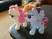 My Little Pony Plush Lot Of 2 Ponies Yellow & Blue 6 inch