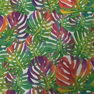 DIGITAL Print Banana Palm Leaf Tropical Hawaiian Leaves Cotton Fabric Upholstery