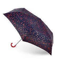 Lulu Guinness por Fulton Superslim 2 Paraguas-alrededor de corte Spot Rojo