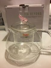 Glass Teapot With Butterfly  by Tea Beyond 24 oz.