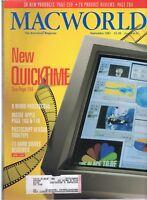 "ITHistory (1991/09) Magazine: MACWORLD ""New Quicktime; Word Processors Ads!"