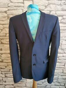 """The Kooples Blazer Jacket Small male 34"""" navy blue 100% wool"""