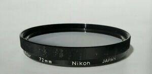 Genuine Nikon Circular 72mm Polarising Filter-Made In Japan 90s.