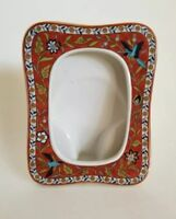 Takahashi Hand Decorated SILK ROAD Ceramic Beautiful Color Picture Frame w/ Bird