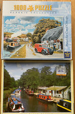 2x Jigsaw Puzzle Bundle Job Lot, 'Parcel For Canal Cottage', River Wey Farncombe