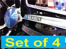 BRABUS BLUE 3D domed light reflecting sticker badge 50mm Lengh (Set of 4)