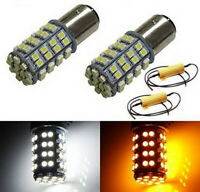 60-SMD 1157 Dual-Color Switchback LED Bulbs (60-White 60-Amber) + Load Resistor