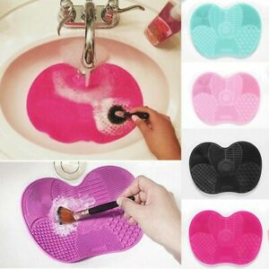 Silicone Makeup Brush Washing Pad Mat Cleaner Hand Tool Scrubber With Sucker
