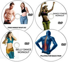 4 DVD SET-FITNESS FULL BODY WORKOUT ON EXERCISES BUNS,THIGHS,ABS,WEIGHT LOSS FAT