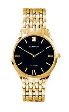 Sekonda Mens Black Dial Gold Plated Bracelet Watch 1611 RRP £59.99