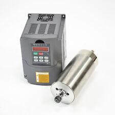 Hy 1.5KW refroidi à l'eau ER11 80MM moteur de broche et drive inverter variateur pour cnc