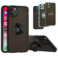 For iPhone 11 pro Max Rotation Ring Kickstand Case Magnetic Car Holder Cover