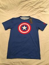 Under Armour Captain America Compression Shirt, Marvel Comics, Size Xl/2X, Nwt!