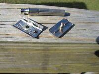 Beautiful 1938-1945 Gillette Fat Handle Silver Tone Tech DE Safety Razor
