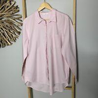 Mix Size 16 XL Pink Women's Shirt Blouse Top Stretch Cotton Long Sleeve NWOT