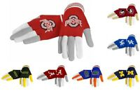 NCAA Football Multi Color Team Logo Knit Stretch Gloves  - Pick Team