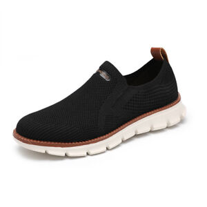 Mens Casual Slip On Pumps Loafers Breathable Mesh Driving Moccasins Flats Shoes
