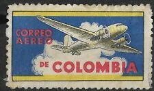 COLOMBIA  AIRMAIL Label Cinderella, Nice Color