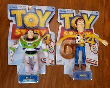 "Disney Pixar Toy Story 4: 7"" BUZZ LIGHTYEAR & 9"" WOODY Posable Action Figures"