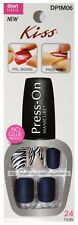 KISS*24pc Stick-On Nails PRESS-ON MANICURE Lmt Ed SHORT Square/Oval *YOU CHOOSE*