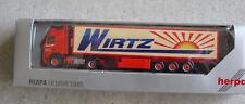 Herpa Ho 1:87 Volvo Wirtz International Sun Tractor Trailer Truck Nib