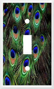 PEACOCK FEATHERS  #5  HOME DECOR ~ Light Switch Cover Plate