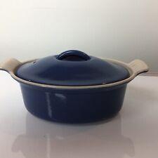 Vintage Cousances 18cm Cast Iron Casserole Lidded Dish- Le Creuset  - Blue