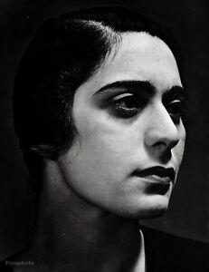 1932/63 Vintage 16x20 CAROLYN ANSPACHER Portrait Actress Writer Art ANSEL ADAMS